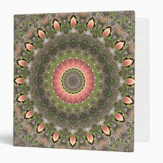Pink & Green Mandala Design 3 Ring Binders