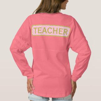 Pink + Green Monogram Apple Quatrefoil Teacher Spirit Jersey