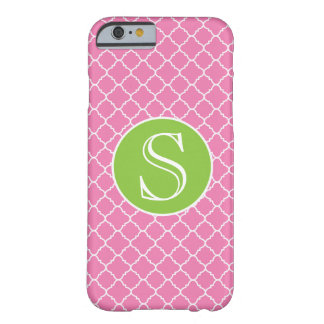 Pink & Green Monogram iPhone 6 Barely There Case