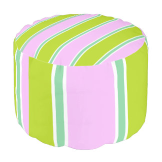 Pink-Green-Multi-Stripes-Combo-Pouf Pouf