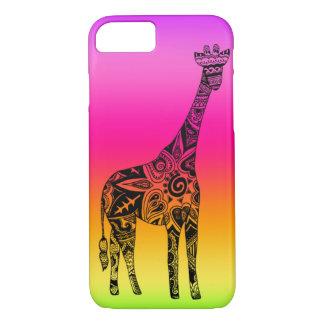 Pink & Green Neon Giraffe iPhone 7 Case