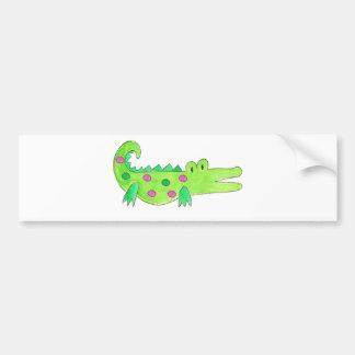 Pink & Green Preppy Alligator Bumper Sticker