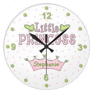 Pink & Green Princess Wall Clock