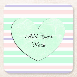 Pink green purple Disposable Personalize Coasters