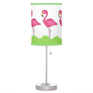 Pink Green Tropical Flamingos Bird Lamp
