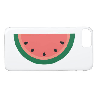 Pink Green Watermelon Slice with Seeds iPhone 8/7 Case