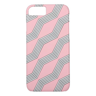 Pink & Grey Chevron iPhone 7 Case