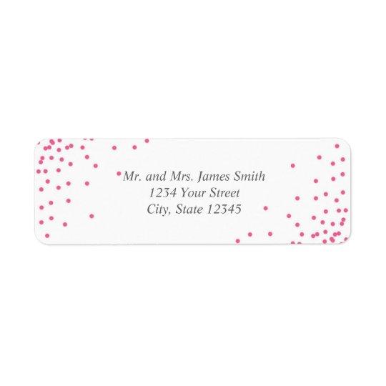 Pink & Grey Confetti Dots Return Address Labels