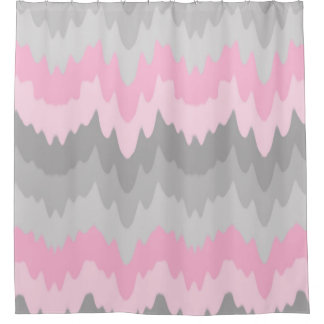 Pink Grey Gray Ombre Chevron Abstract Zigzag Girl