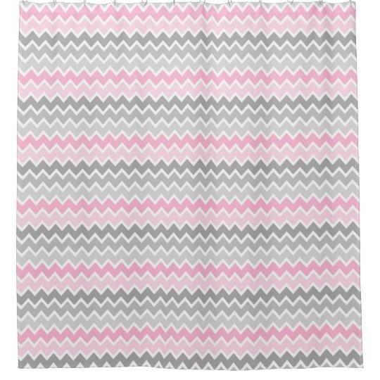 Pink Grey Grey Ombre Chevron