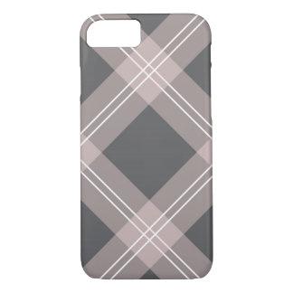 pink & grey plaid iPhone 7 case