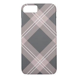 pink & grey plaid iPhone 8/7 case