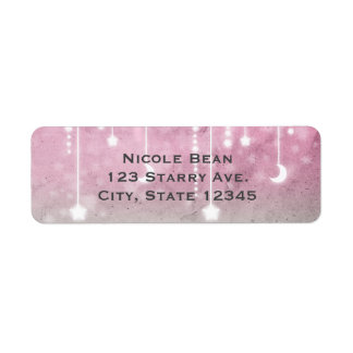 Pink Grey White Moon & Stars Celestial Baby Shower