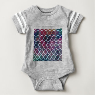 Pink Grunge Moroccan Style Baby Bodysuit