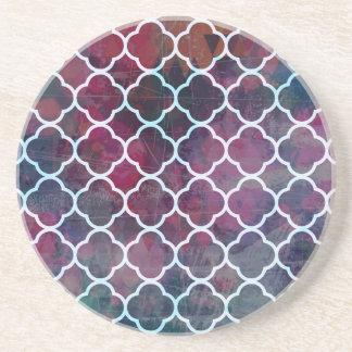 Pink Grunge Moroccan Style Coaster
