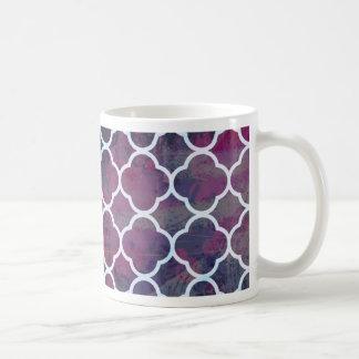 Pink Grunge Moroccan Style Coffee Mug
