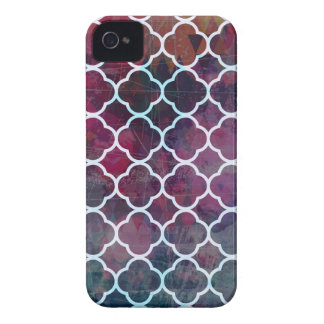 Pink Grunge Moroccan Style iPhone 4 Case