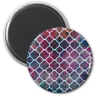 Pink Grunge Moroccan Style Magnet