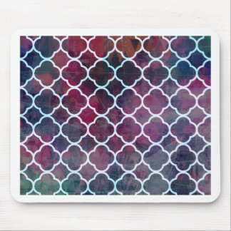 Pink Grunge Moroccan Style Mouse Pad