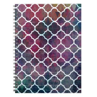 Pink Grunge Moroccan Style Note Book