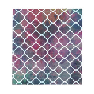 Pink Grunge Moroccan Style Notepad
