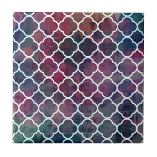 Pink Grunge Moroccan Style Tile