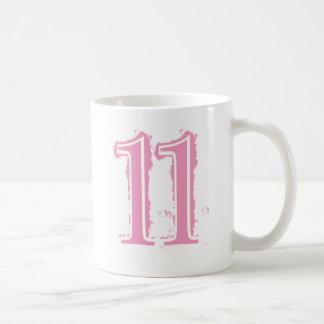 PINK GRUNGE NUMBER 11 COFFEE MUG