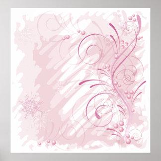 pink grunge winter poster