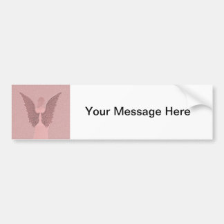 Pink Guardian Angel Bumper Sticker
