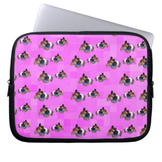 Pink Guinea Pigs Pattern, 10 inch Laptop Sleeve