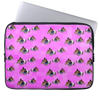 Pink Guinea Pigs Pattern, 13 inch Laptop Sleeve