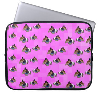 Pink Guinea Pigs Pattern, 15 inch Laptop Sleeve