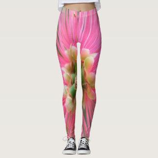Pink Gum Tree Flower Leggings