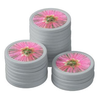 Pink Gum Tree Flower Poker Chip Set
