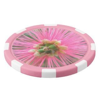 Pink Gum Tree Flower Poker Chips Set