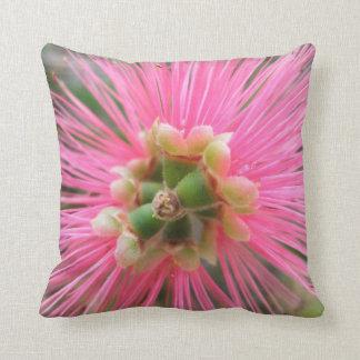 Pink Gum Tree Flower Throw Pillow