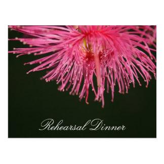 Pink gum tree Flower Wedding Postcard