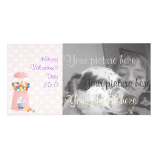 Pink Gumball Machine Photo Greeting Card