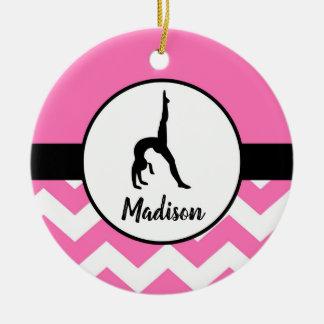Pink Gymnastics Ornament