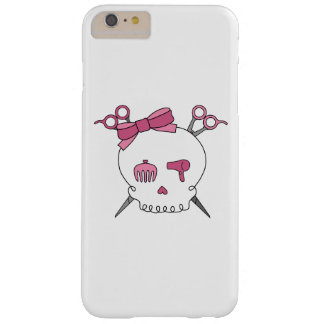 Pink Hair Accessory Skull -Scissor Crossbones Barely There iPhone 6 Plus Case