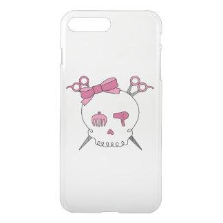 Pink Hair Accessory Skull -Scissor Crossbones iPhone 7 Plus Case