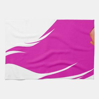 Pink Hair Girl Kitchen Towel