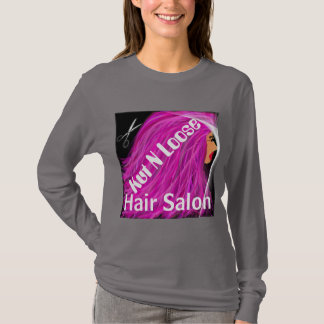 Pink hair lady t-shirt/Kut N Loose T-Shirt