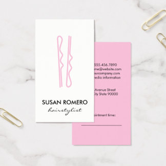Pink Hair Pins Appointment Business Card