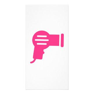 Pink hairdryer custom photo card
