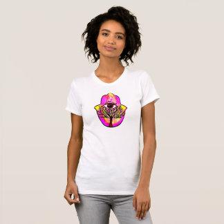 Pink Hamsa Hand, Hand of Fatima Tree of Life Shirt