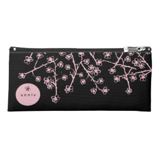 Pink, Hand-Drawn Cherry Blossoms Pencil Case