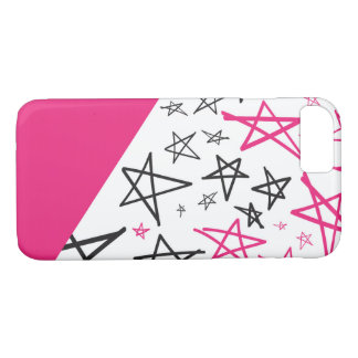 Pink Hand Drawn Star Phone Case