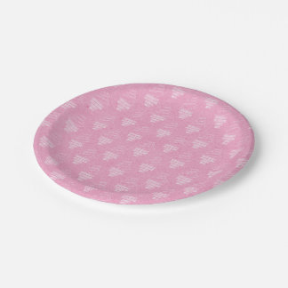 Pink Happy Birthday Paper Plate
