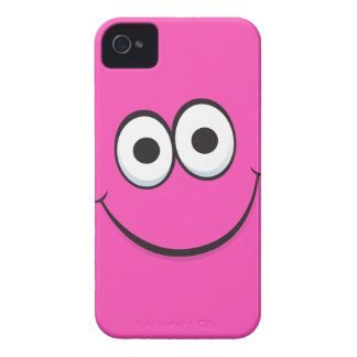 Pink happy cartoon smiley face iPhone 4 case